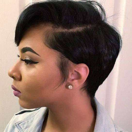 Side Parted Pixie Hairstyle for Women