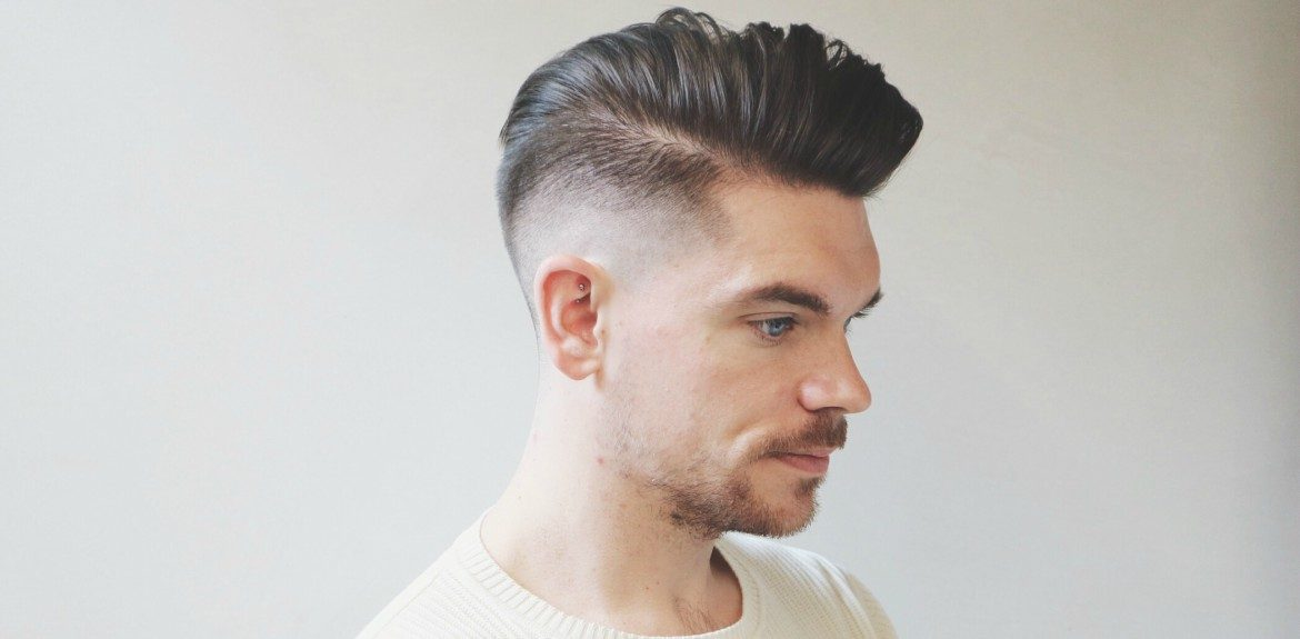 Side Pompador Hairstyle for Men 2018