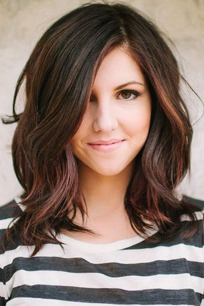Soft Wave hairstyles for girls with medium hair