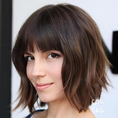 Straight Bob with Bangs Hairstyles For Women
