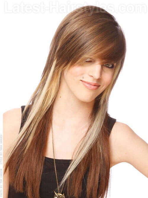Straight and Long Hairstyle for Women
