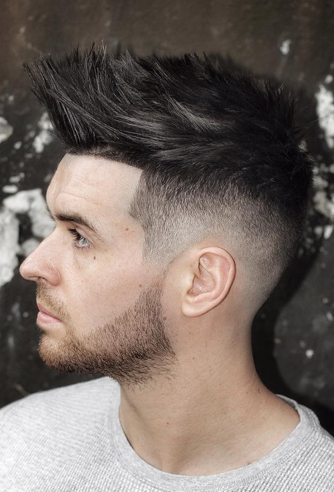 Striped Up Spike Hairstyles For Boys