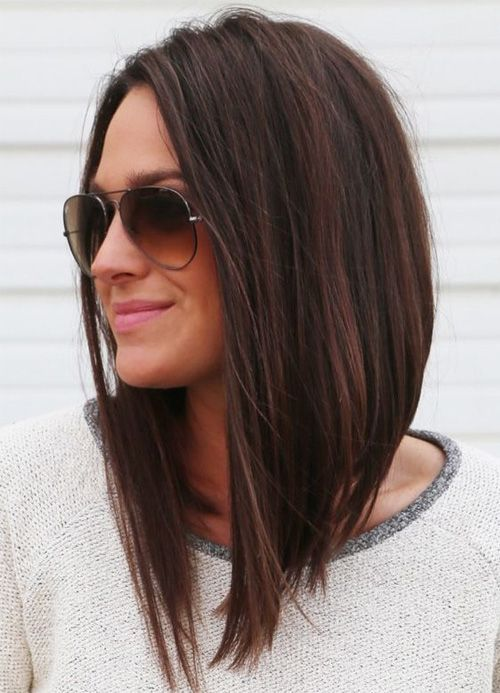 Strong A Line Hairstyles for Girls with Medium Hair