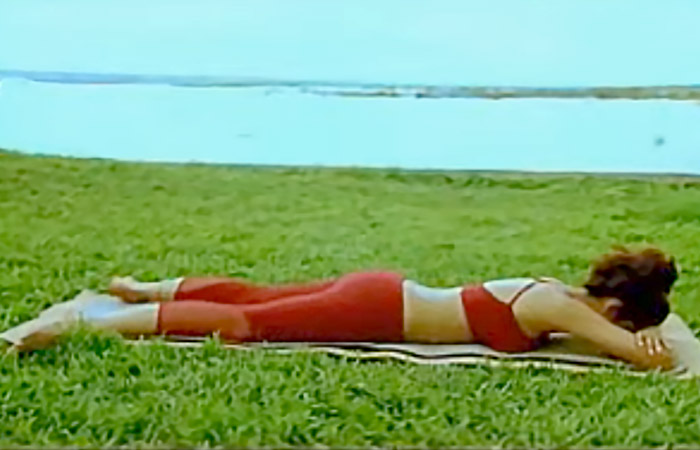 Makarasana Shilpa Shetty Yoga Poses