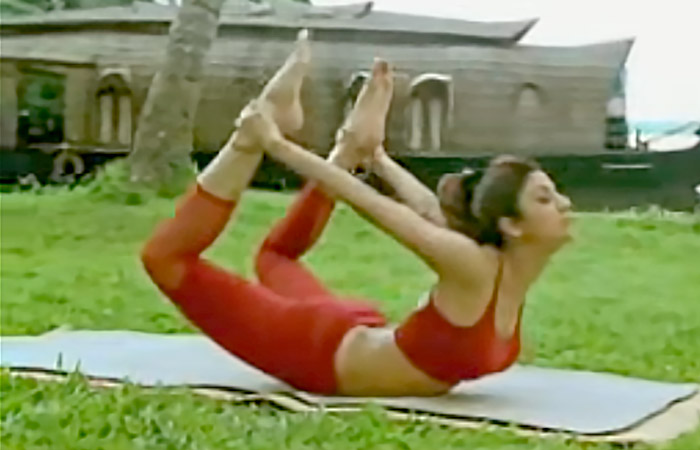 Dhanurasana Shilpa Shetty Yoga Poses