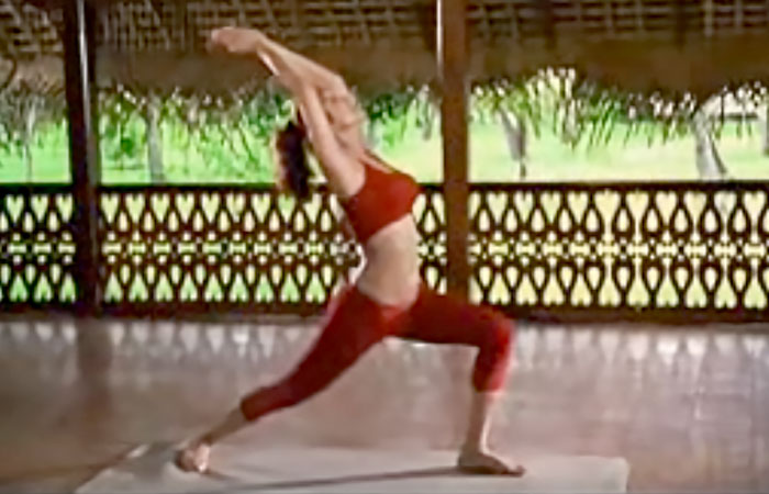 Virabhadrasana Shilpa Shetty Yoga Poses