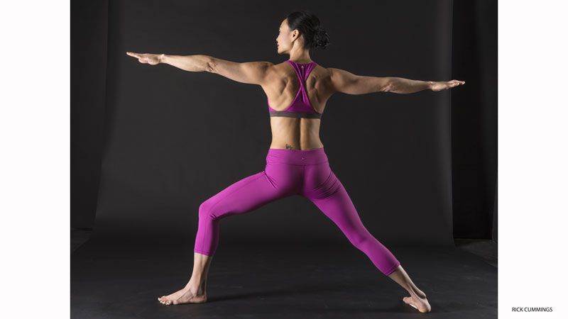 6. Activate your rotator cuff with warrior II Pose - Virabhadrasana II