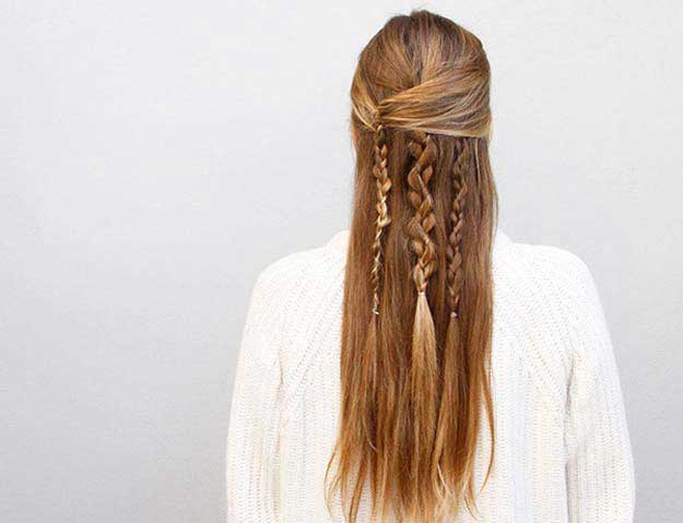 Chic Half Up Long Hair