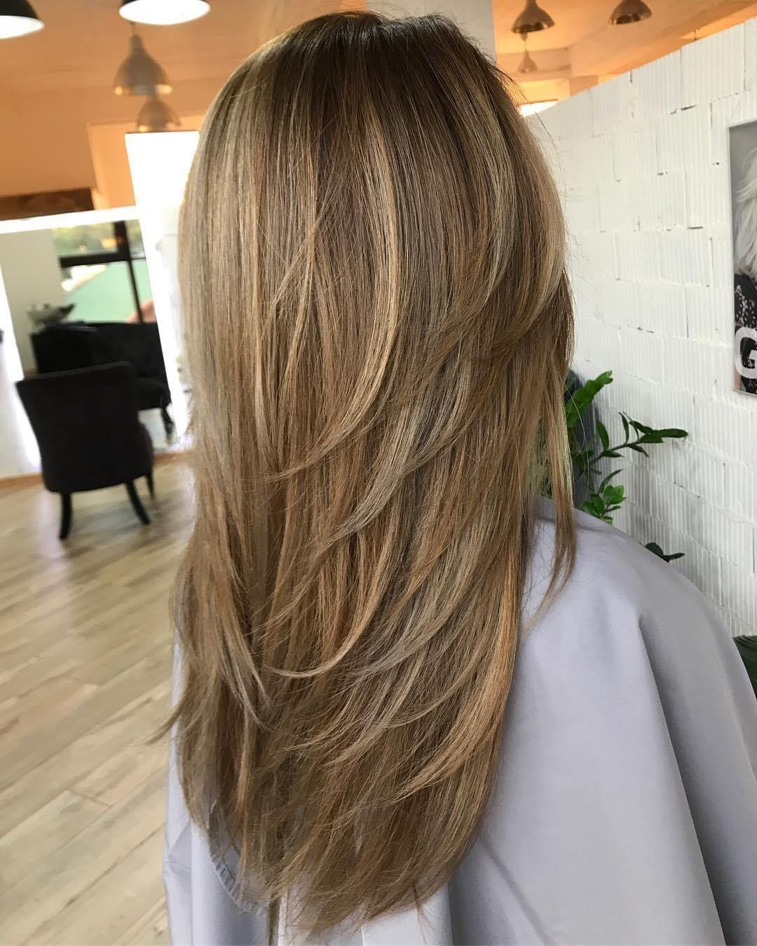 Descending Layers Long Hair