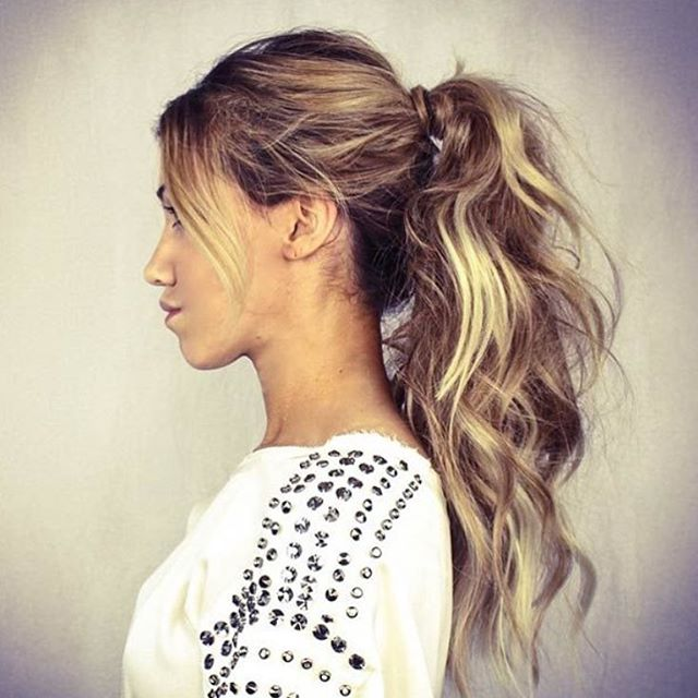 Fringed Ponytail Long Hair