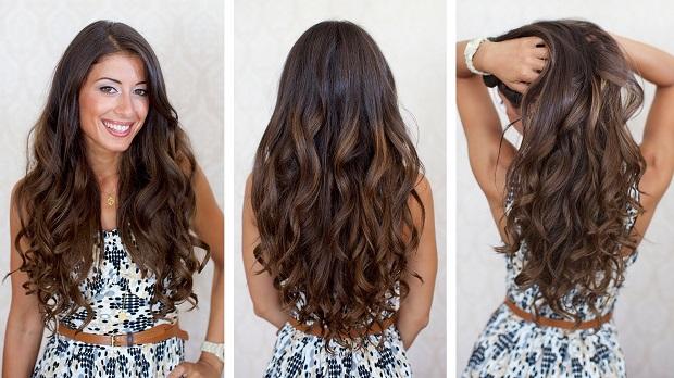 Straight Curls Long Hair