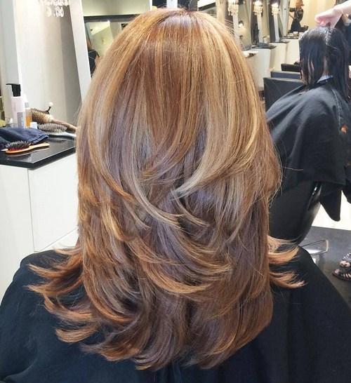 Stratified Strands Long Hair