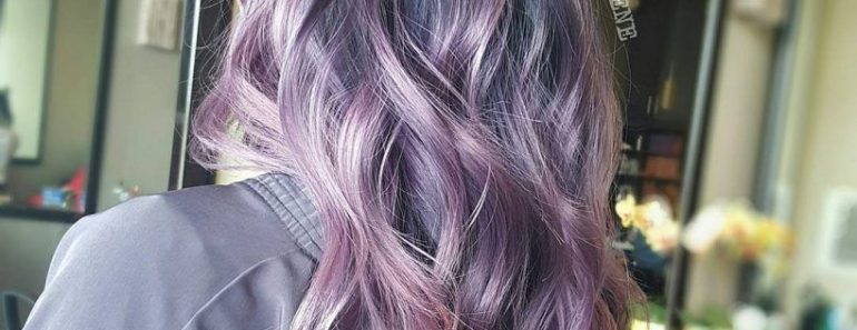 Ashy Violet Hair Color