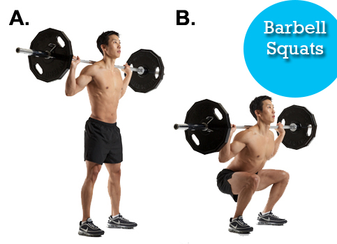 Barbell Squats Full Body Workout