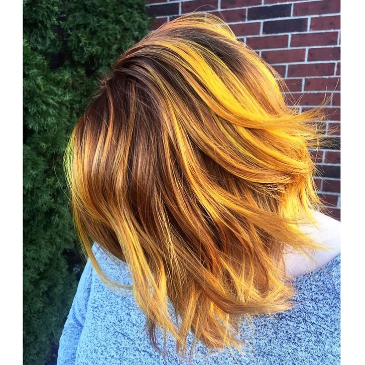 Bright Butterbeer Hair Color