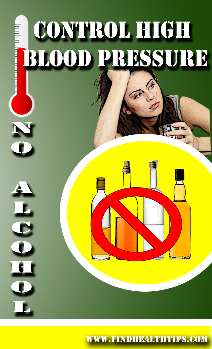 High BP Avoid Alchohol