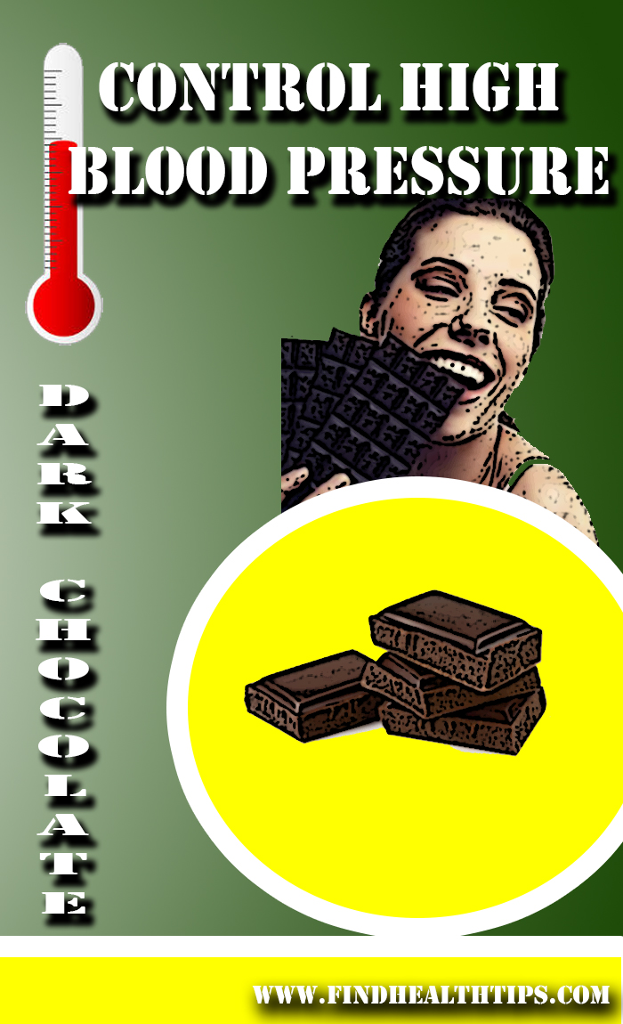 High BP eat dark chocolate