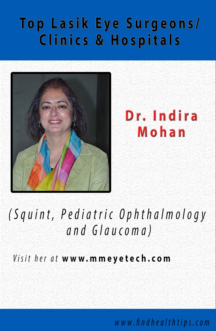 Indira Mohan lasik eye surgeons delhi