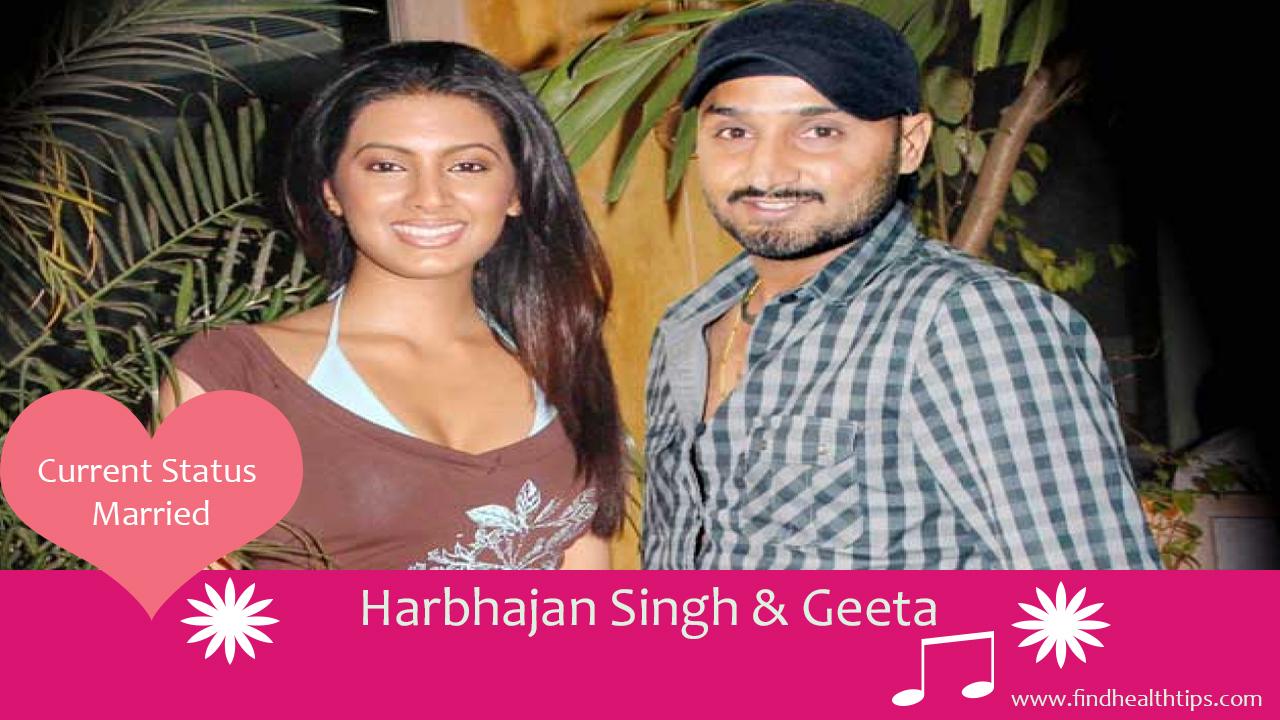 harbhajan singh geeta cricketers who married celebrities
