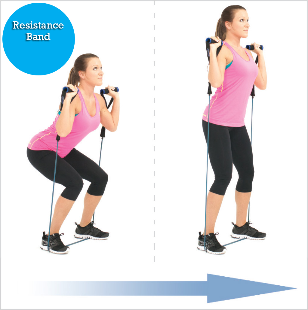resistance bands squats full body workout