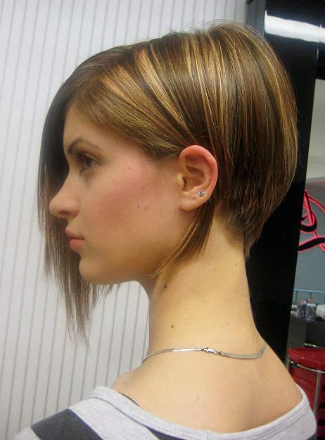 A-line brown bob Haircut Teenage Girls