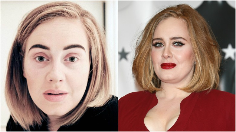 Adele without  makeup photos