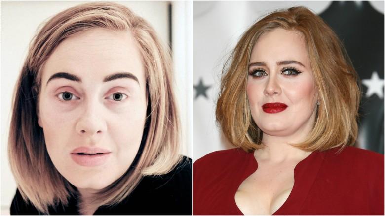 Adele without  makeup photos