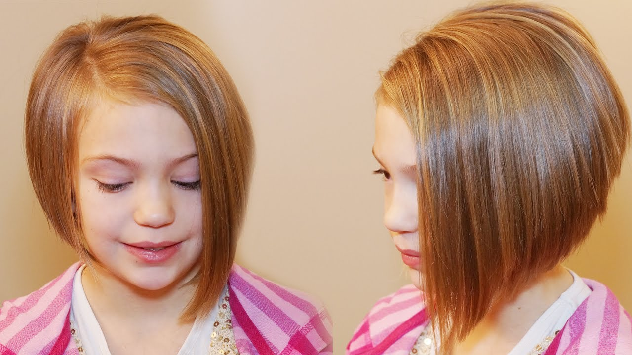 Asymmetrical bob with highlights Teenage Girls