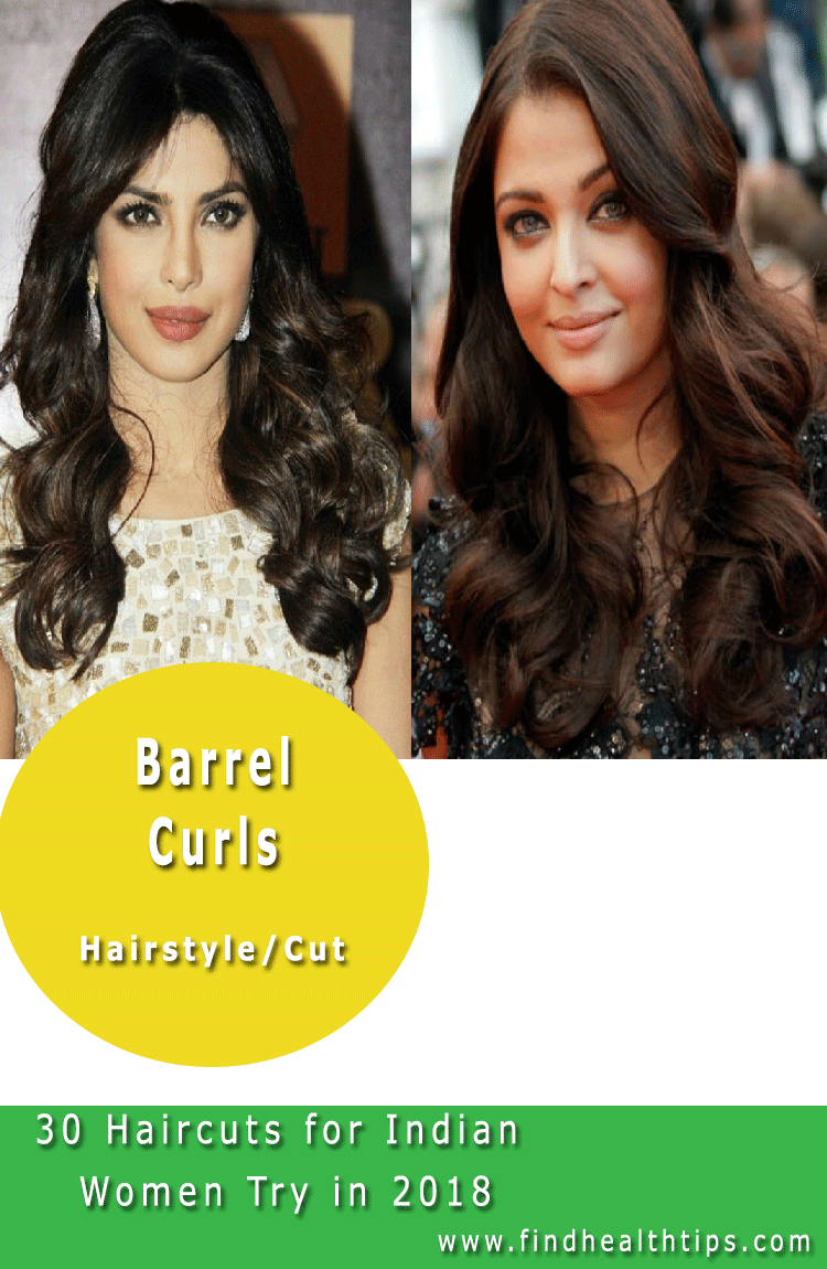 Barrel Curls Haircuts For Indian Women 2018