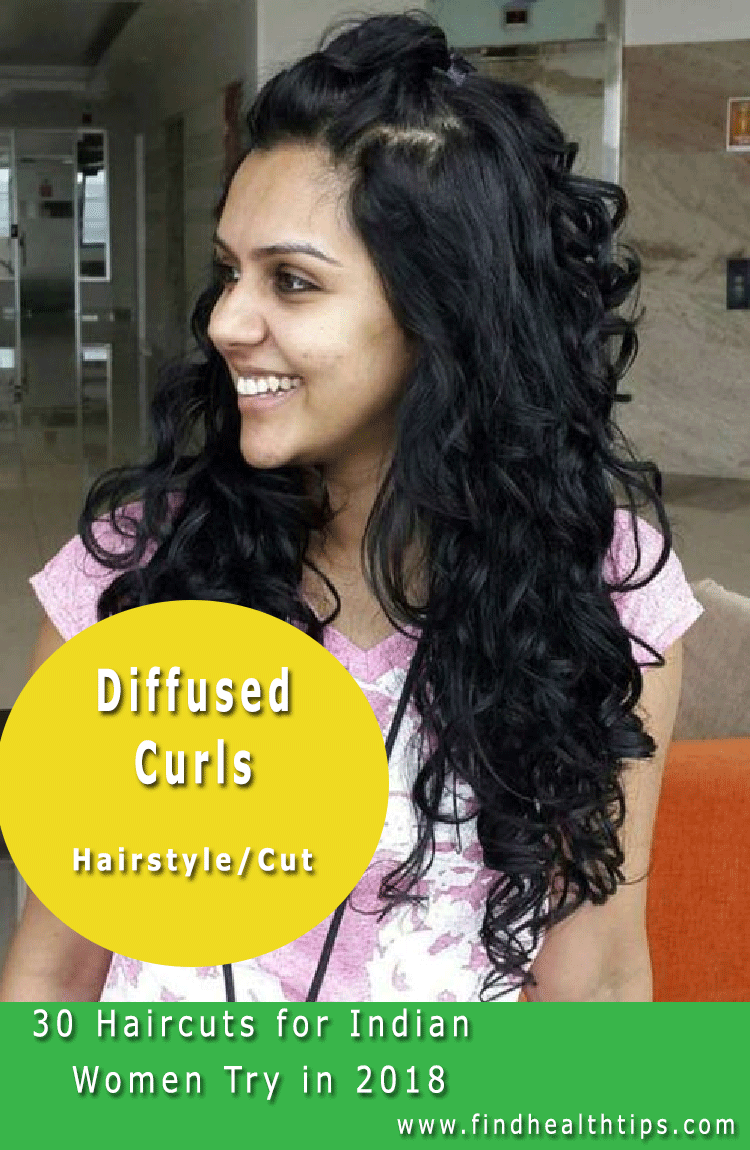 Diffused Curls Haircuts For Indian Women 2018