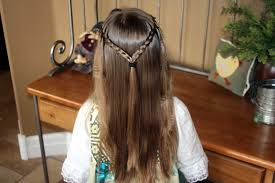 Double braid with crimp haircut teenage girls