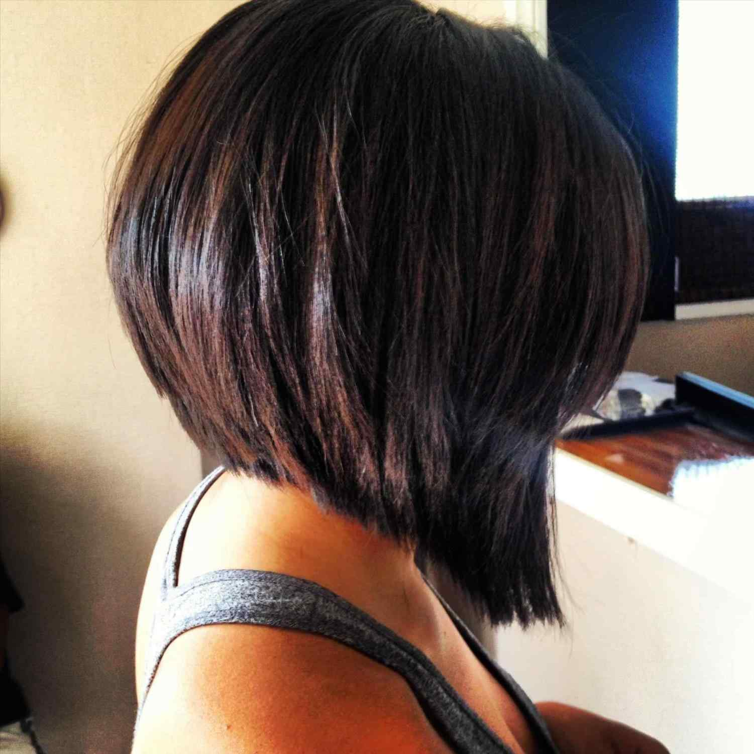 Dramatic stacked bob haircut Teenage Girls