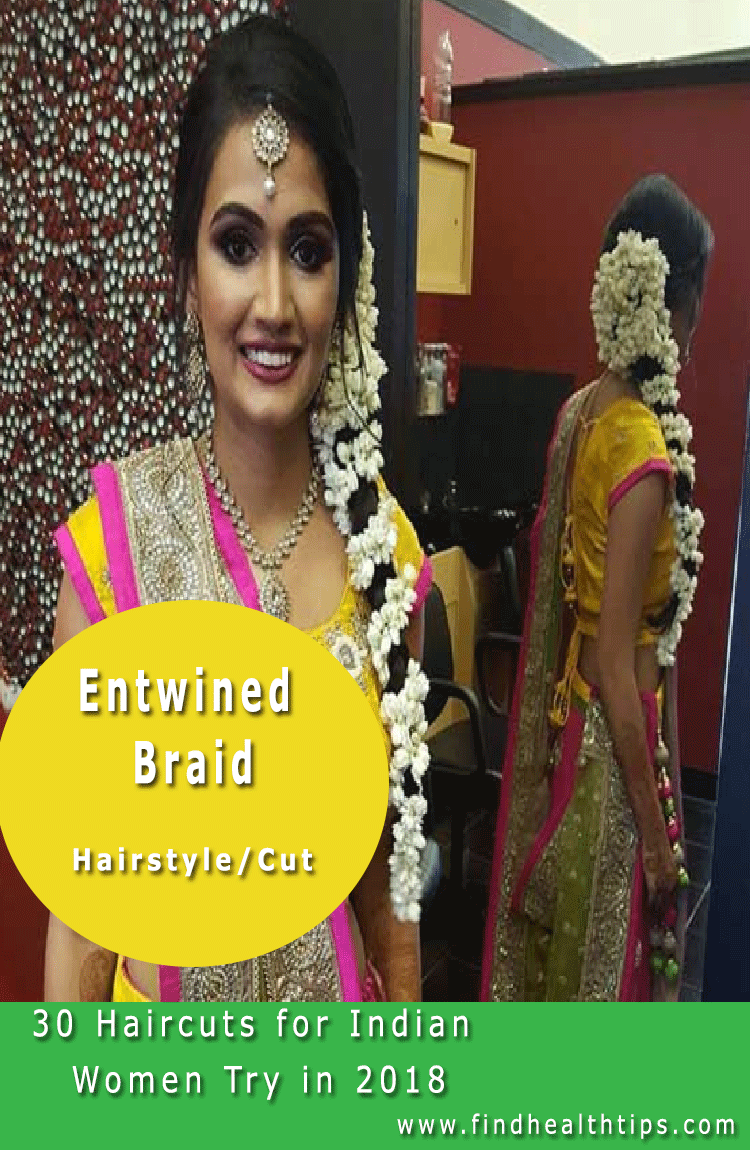 Entwined Braid Haircuts For Indian Women 2018
