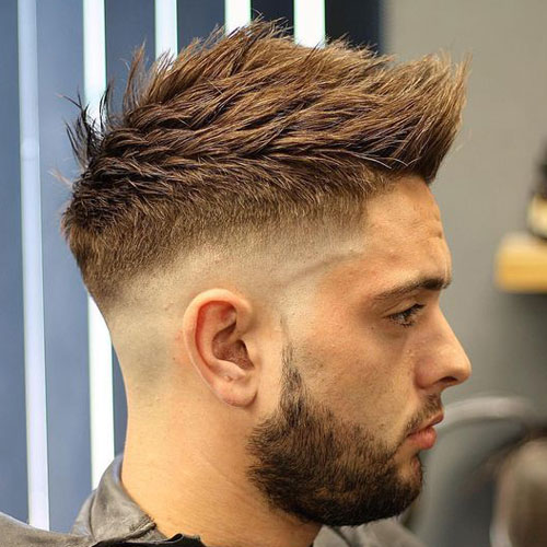 Faux Hawk Fade Short Hairstyle for Men