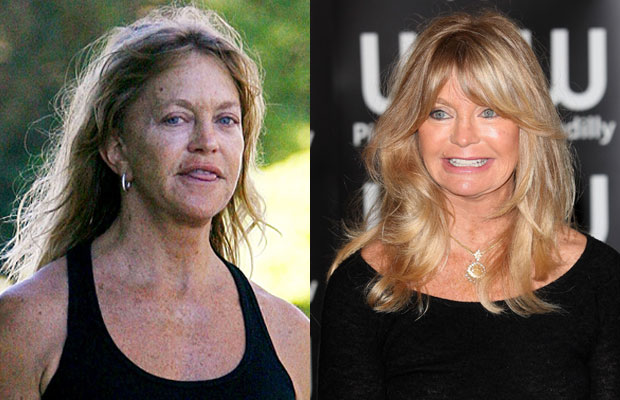 Goldie Hawn without makeup photos