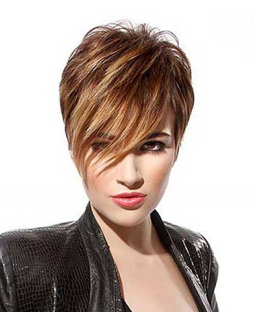 Layered Long Pixie Latest Short Hairstyle for Women
