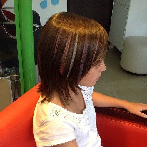 Layered bob with highlights Teenage Girls