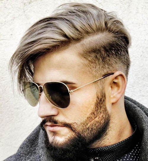 Long Side fringe Short Hairstyle for Men