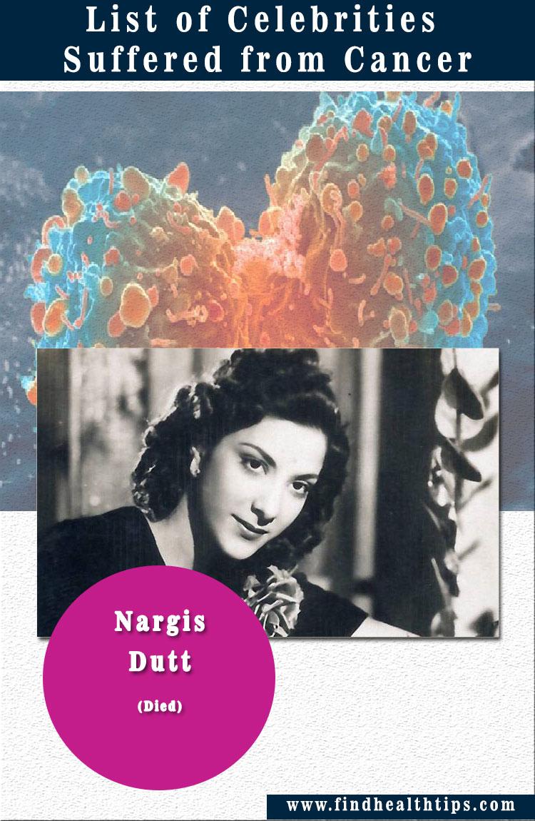 Nargis Dutt celebrities suffered from cancer