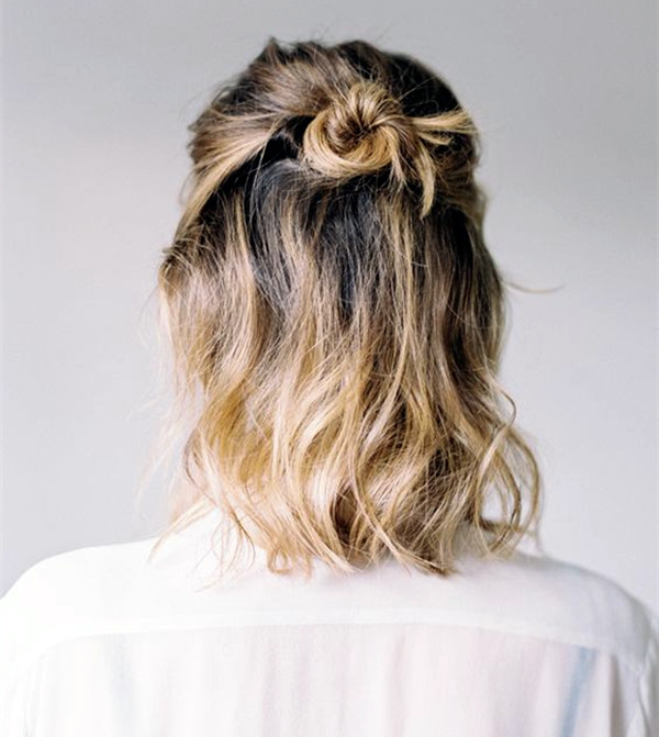 Ombre Braid & Bun haircut Teenage Girls