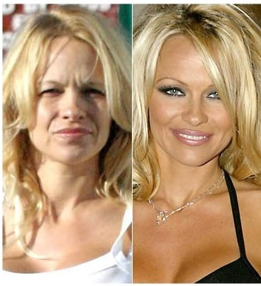 Pamela Anderson without makeup photos