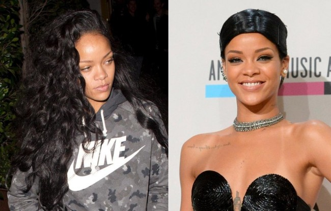 Rihanna without makeup photos