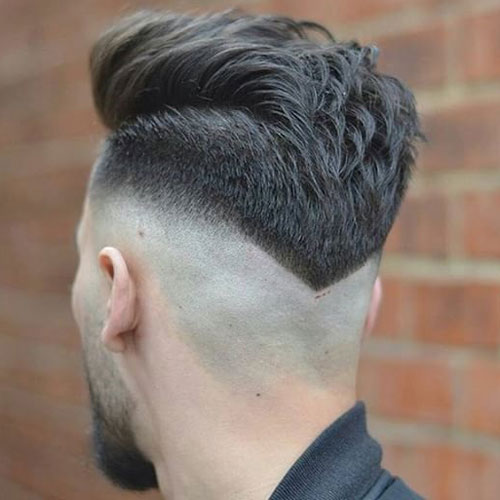 Shaved Sides with V-shaped Back Short Hairstyle for Men