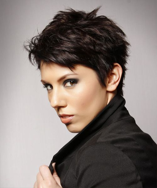 Short Funky Mocha Hairstyle for Women