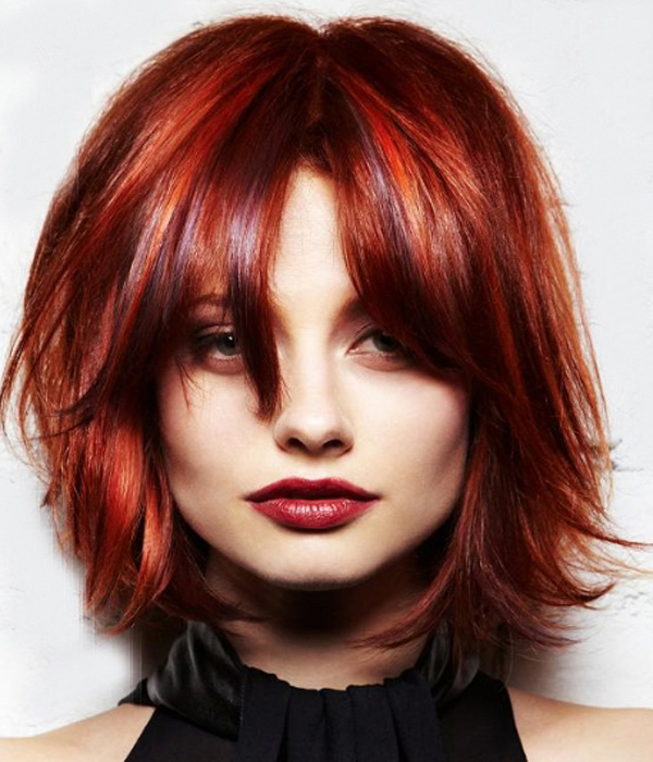 Short Red Bob Hairstyle for Women
