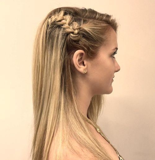 Shorter braided teenage style Girls