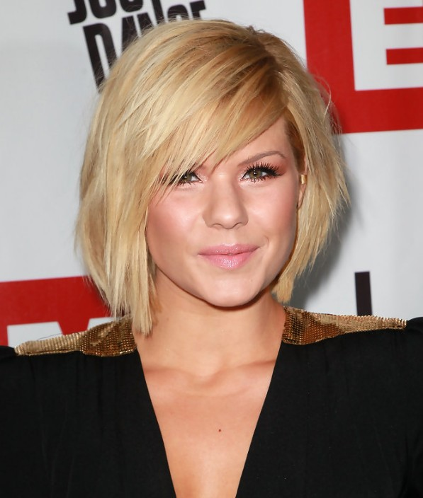 Side Swept Straight Short Hairstyle for Women