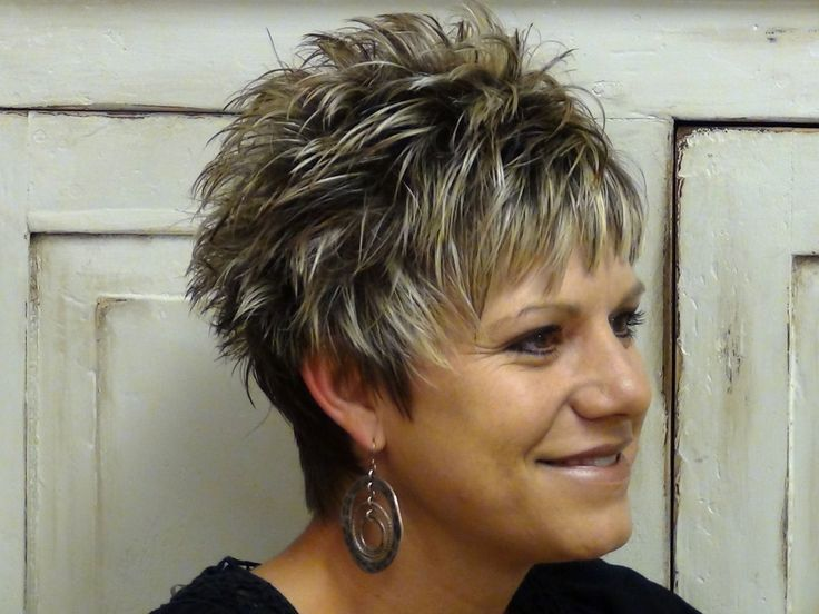 Spiked Short Hairstyle for Women