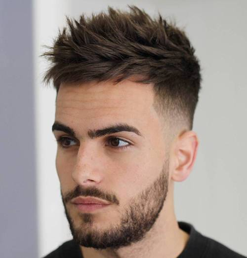 Spiky Short Hairstyle for Men