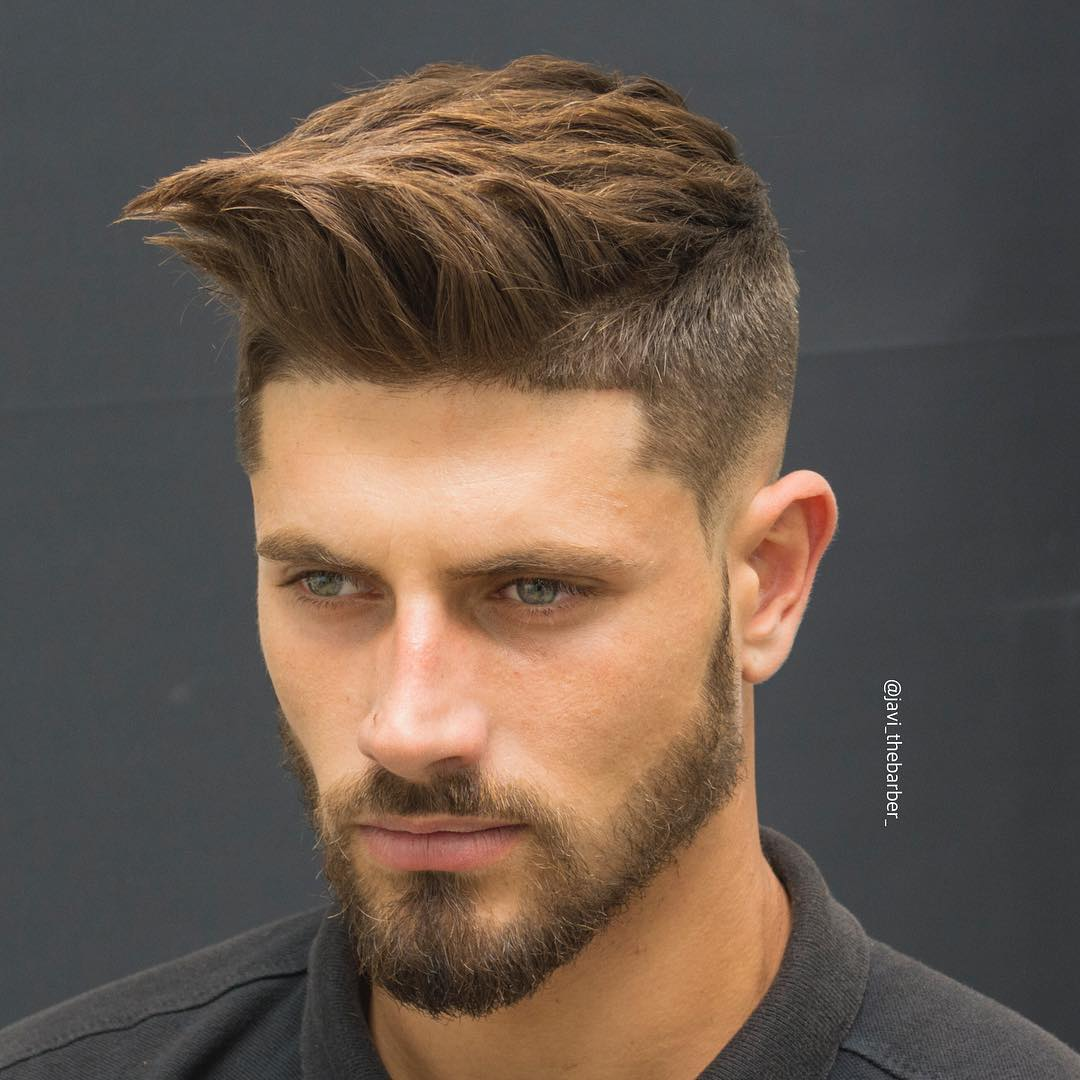 Textured Quiff Short Hairstyle for Men